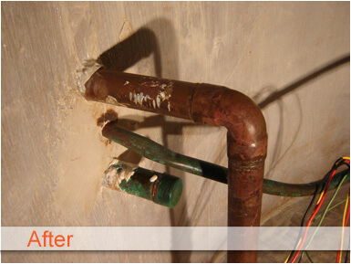 Cistern Cleaning West Country Pump - After
